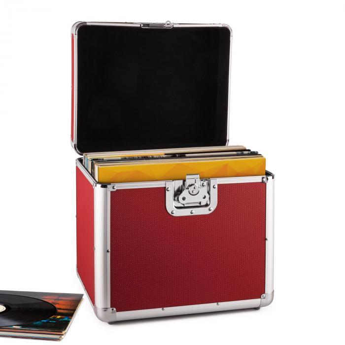 Resident DJ Zeitkapsel aluminiowy kufer na 70 LP czerwony