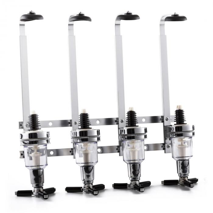 Hazlehov Quartet 4-way Beverage Dispenser Wall Mount