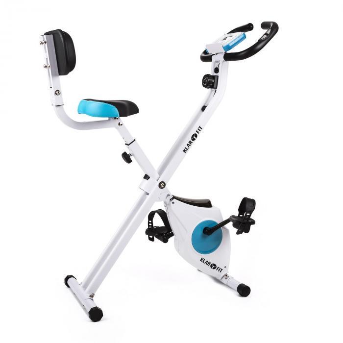 KLARFIT Azura Comfort domowy rower treningowy z oparciem dla pleców, składany 100kg