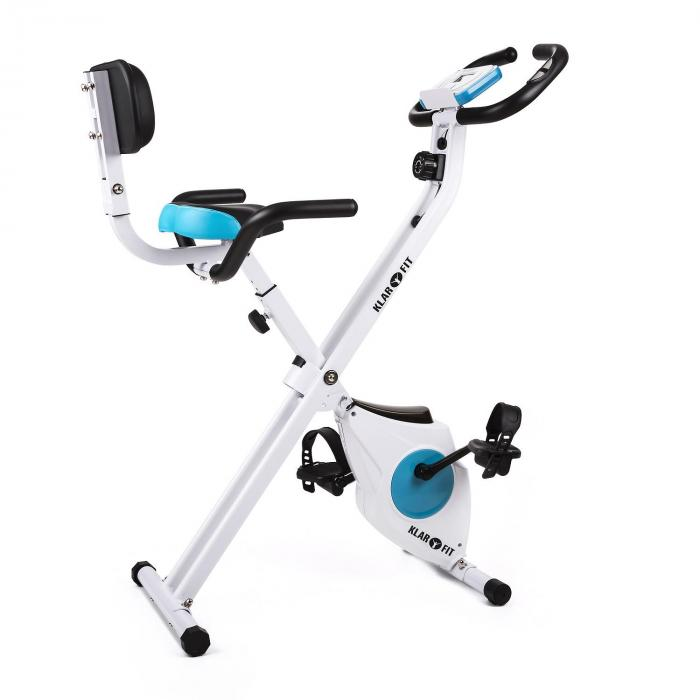 KLARFIT Azura Pro domowy rower treningowy z mocowaniem bocznym, składany 100kg