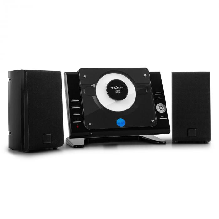 70 Stereo verticale CD USB ​​MP3 AUX nero