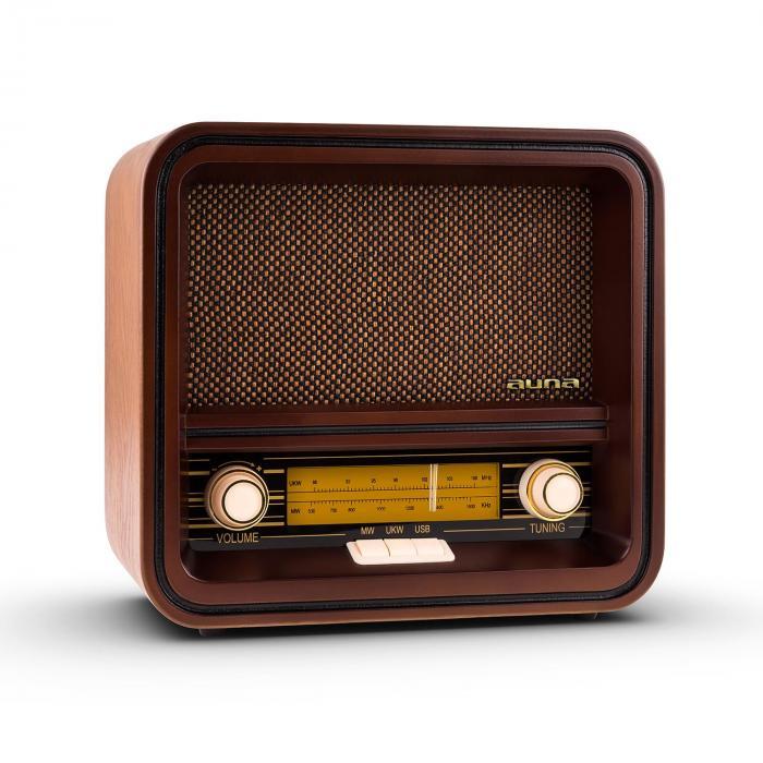 Radio w stylu retro Auna Belle Epoque 1901 FM/AM USB MP3