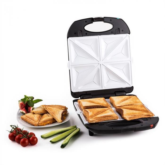 Trinity 3in1 Sandwich Maker XXL 1300 W schwarz