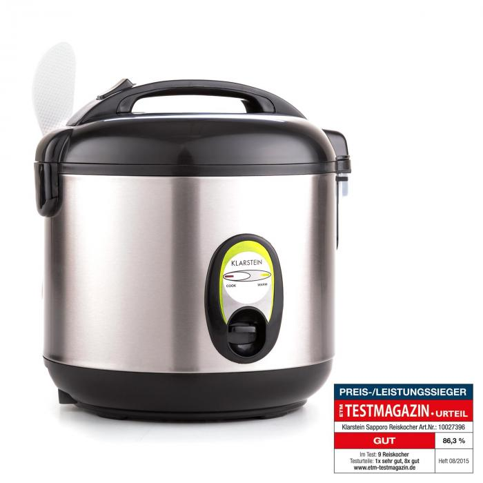 Klarstein Osaka Rice Cooker Pentola Elettrico Cuoci Riso A Vapore 1 L 400W Rosso