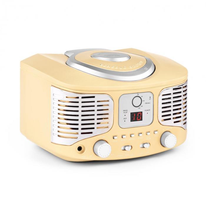 RCD320 Retro-CD-speler UKW AUX creme