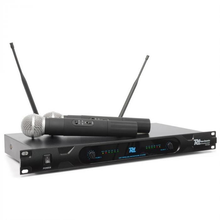 Power Dynamics PD722H 2-kanałowy, radiowy system mikrofonowy UHF