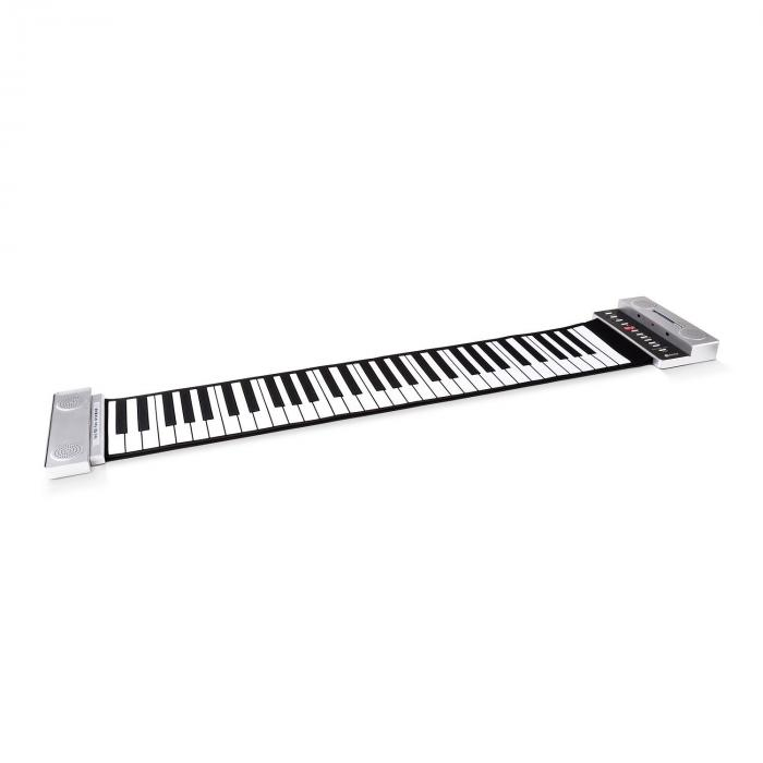 Stereo Roll-up piano 61 kosketinta hopea