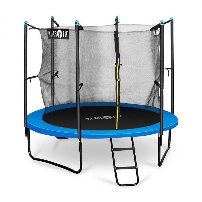 Rocketboy 250 trampoline 250cm veiligheidsnet binnen, brede ladder, blauw
