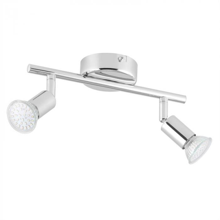 Kvalfoss 2 Ceiling Spot Lamp LED 2x3W 250lm Rotatable Swivel Chrome