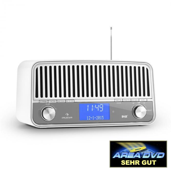 Nizza Radio Bluetooth DAB+ Retrò 2.1 Subwoofer Bianca