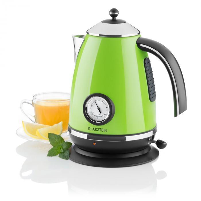 Klarstein Quavita Chalet czajnik elektryczny zielony 1,7 l 2200W
