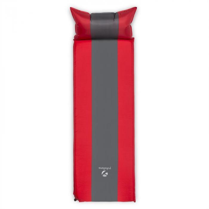 Goodsleep 5 eristävä makuualusta 5 cm paksuinen itsetäyttyvä puna-harmaa