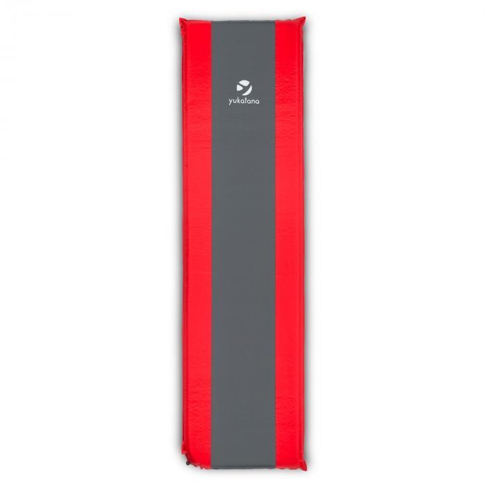 Goodrest 3 eristävä makuualusta 3 cm paksuinen itsetäyttyvä puna-harmaa