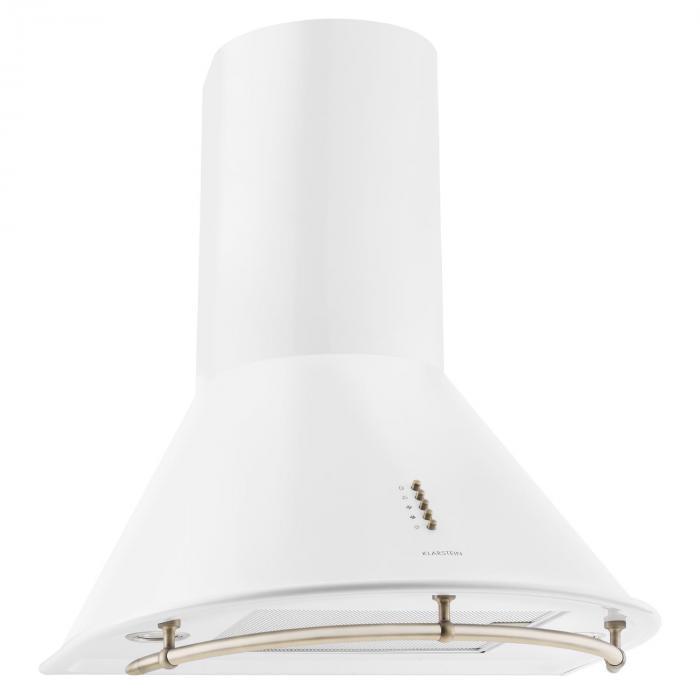 Klarstein Lumio Primo Wyciąg kuchenny Retro Stal szlachetna biały 60cm 430m³/h