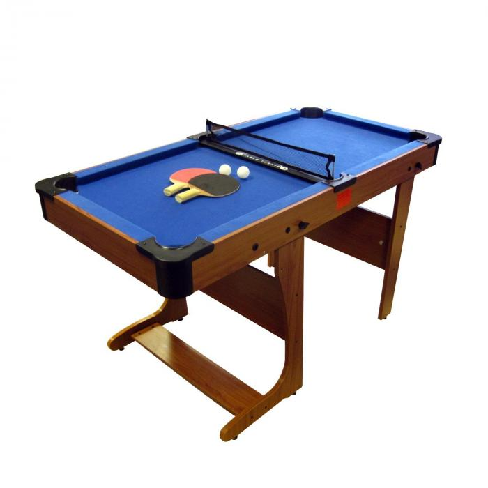 PT20-6D BCE Clifton 6' opklapbare poolbiljarttafel met tafeltennisplaat