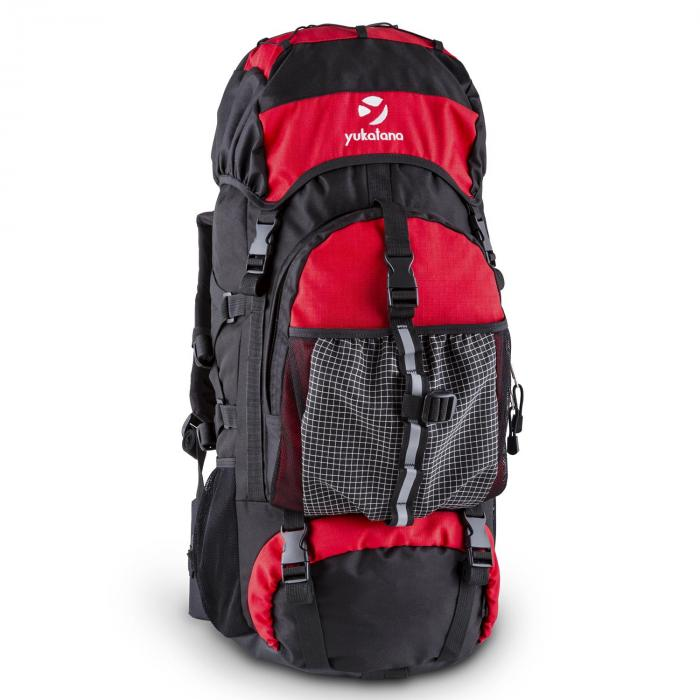Yukatana Thurwieser RD Plecak trekkingowy 55 litrów nylon wodoodporny czerwony