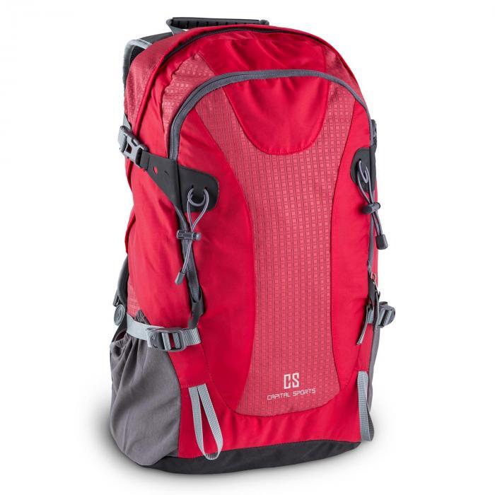 Capital Sports CS 38 Plecak sportowy i turystyczny 38 litrów wodoodporny nylon czerwony