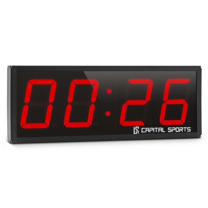 Capital Sports Timer 4 Czasomierz sportowy Stoper Tabata Sekundomierz Cross-Training 4-cyfrowy Sygnał
