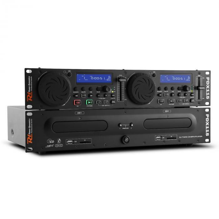 PDX115 Dual DJ-CD-Player-Controller CD UBS SD MP3 Rack-klaar