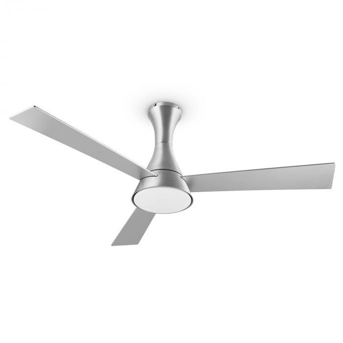 Steeletto Ventilatore da Soffitto 134 cm Lampadine 55W Alluminio