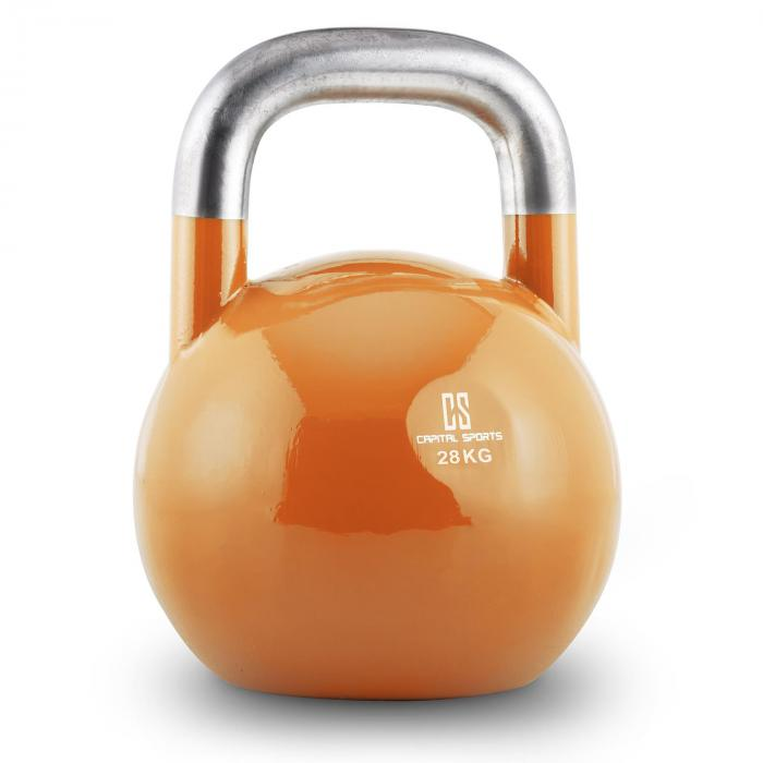 Compket 28 Competition Kettlebell Kugelhantel Stahl 28kg Orange