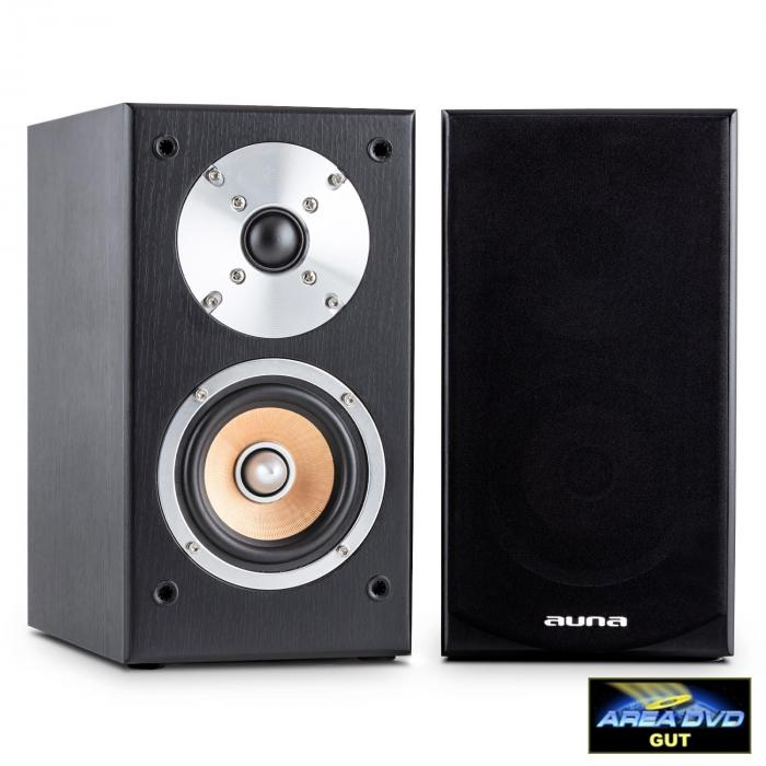 Line 501 BS-BK Passive Bookshelf Speaker Pair 100W Black