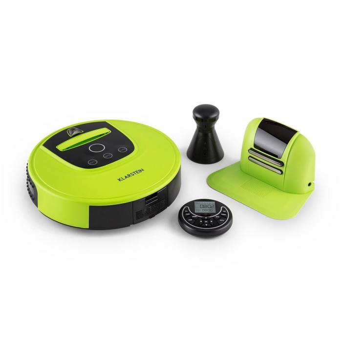 Klarstein Cleanhero Robot odkurzający Odkurzacz automatyczny Zdalna obsługa zielony