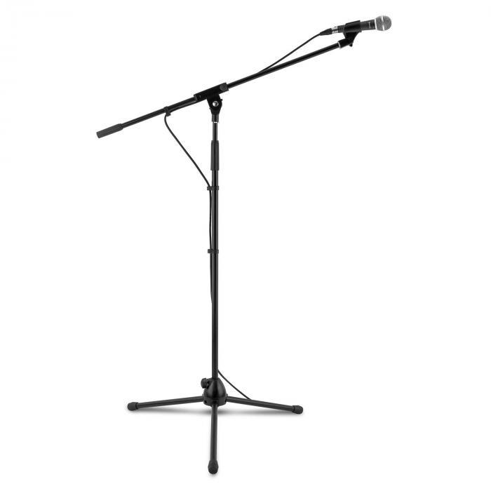 Auna KM 02 Zestaw mikrofonowy 4-częściowy Mikrofon Stojak Zacisk Kabel 5m