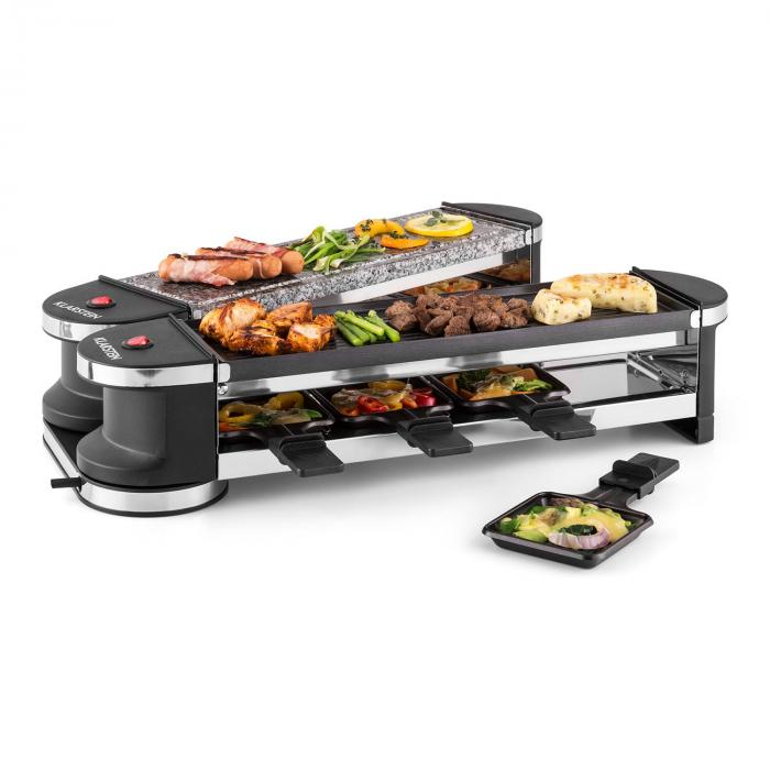 Tenderloin 50/50 raclette-grilli 1200W 8 hengelle luonnonkivi