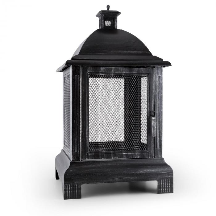 Loreo Feuerstelle Gartenkamin Feuerlaterne Gartenofen Stahl brüniert