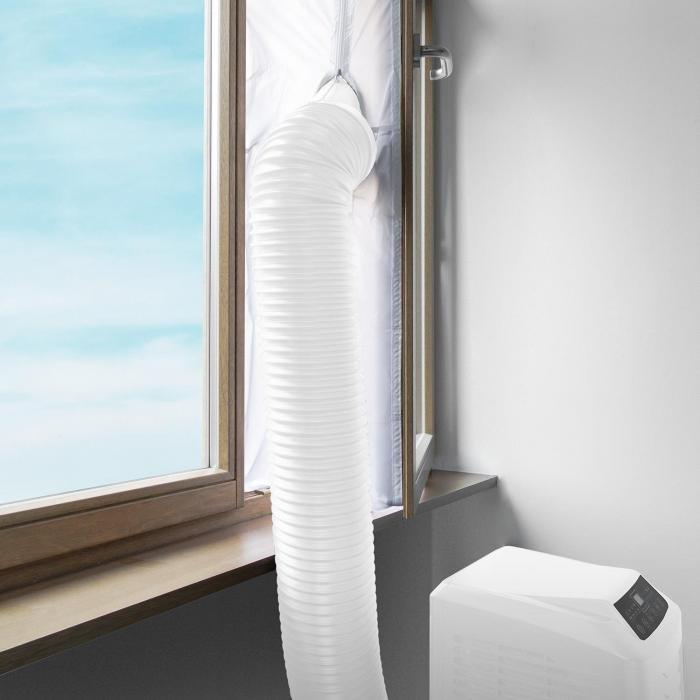 Fensterabdichtung für mobile Klimageräte 3,9m Reißverschluss Klettband