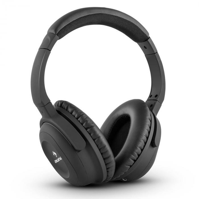 Auna ANC-10 zestaw słuchawkowy z filtrem do redukcji szumówhardcase adapter kolor czarny