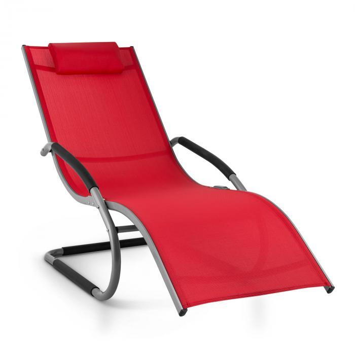 Sunwave Sedia Sdraio Da Giardino Relax In Alluminio Rosso