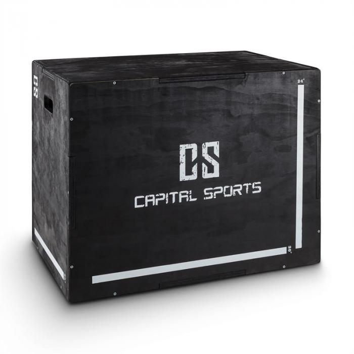 "Shineater Plyo Box 3 Heights 20"" 24"" 30"" Black Wood"