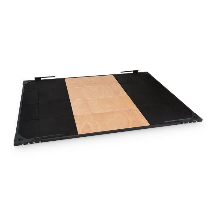 Smashboard Weightlifting Platform 2x2,5 m Nero Acciaio Lauan