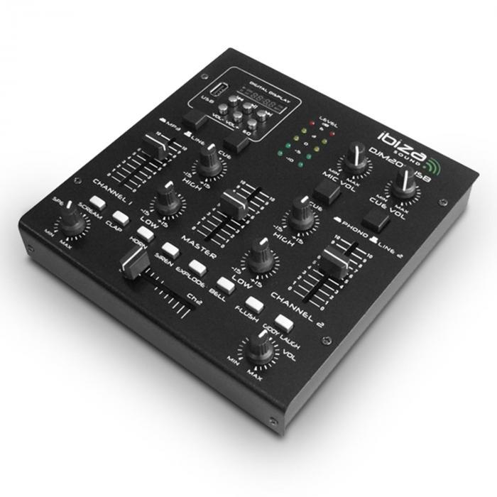DJM 200 Mixer USB 2 Canali MP3