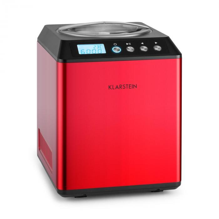 Vanilla Sky Eiscreme-Maschine Kompressor 2l 180W Edelstahl rot