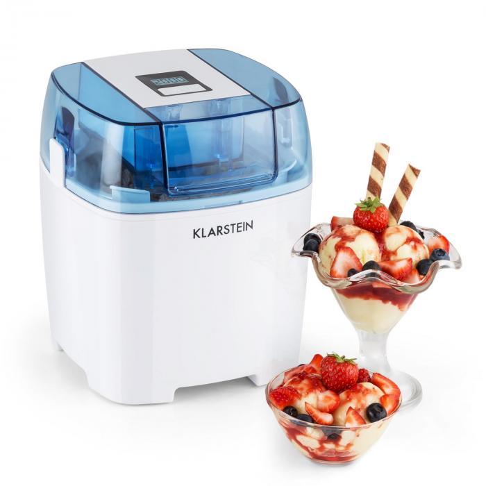Klarstein Creamberrymaszyna do robienia lodów mrożonego jogurtu schładzacz butelek 1,5l biała