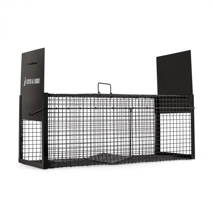 Catch & Carry Animal Trap 31x31x78cm Live Trap 2mm Steel Black
