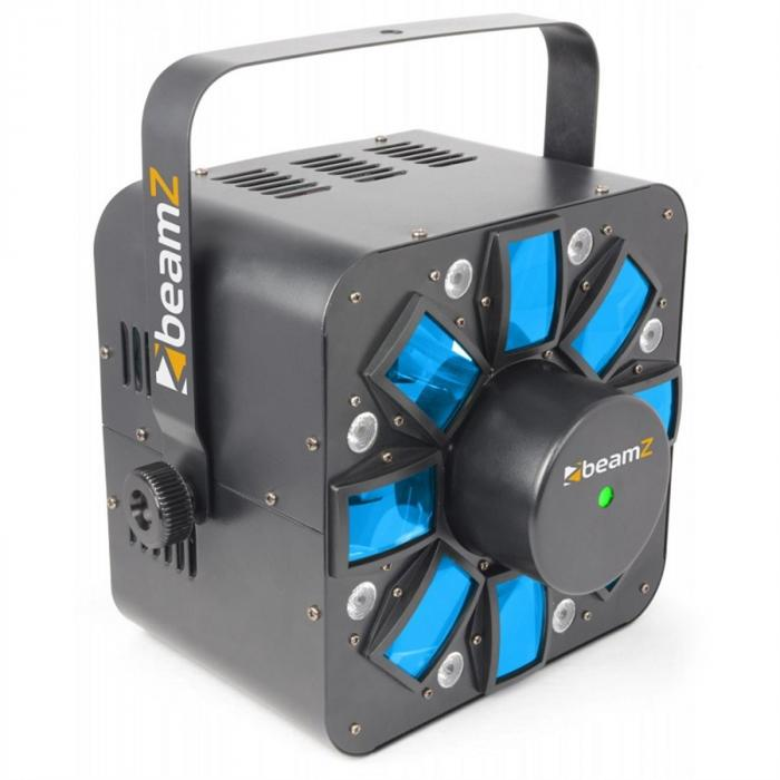 Multi acis III LED-ljuseffekt stroboskop laser RGBAW inkl. bygel