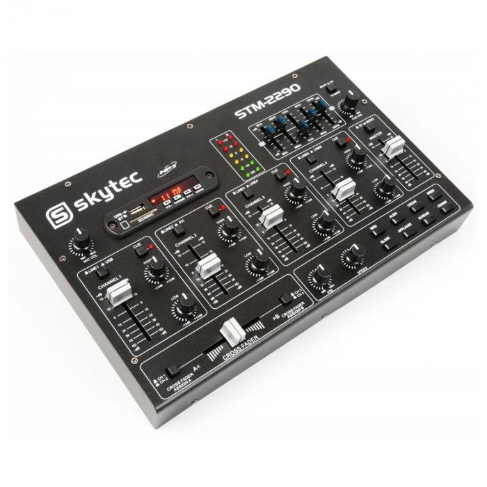 STM-2290 6-kanavainen mikseri bluetooth USB SD MP3 FX