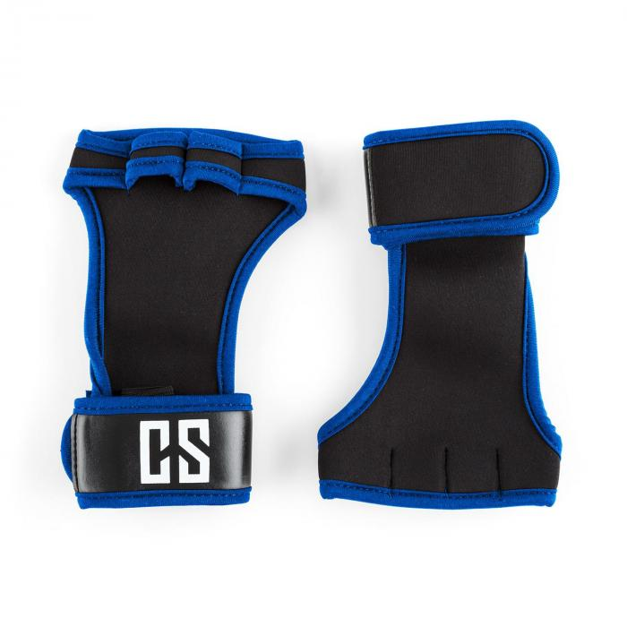 Capital Sports Palm Pro Rękawiczki do podnoszenia ciężarów Wielkość S czarne/niebieskie