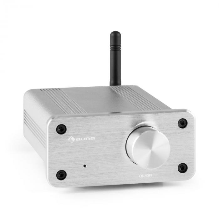 BT-Bro Mini Stereo Amplifier Class-D Bluetooth Aluminium Silver