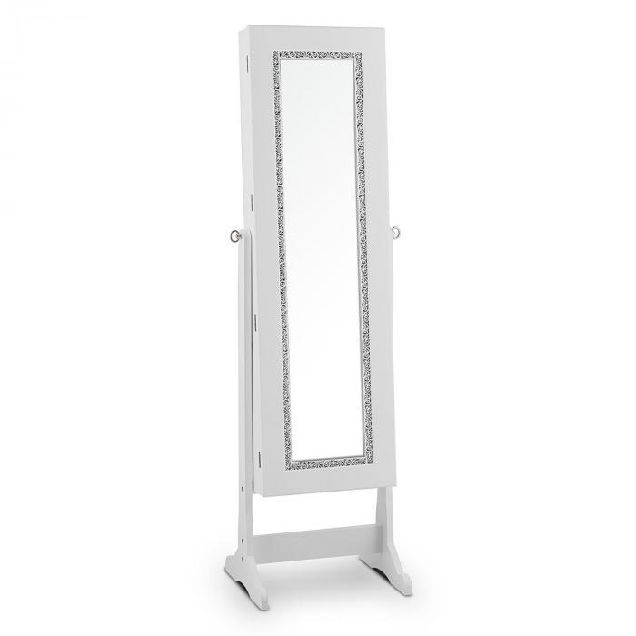 Sissi Schmuckschrank Schmuckspiegel LED schwenkbar weiß