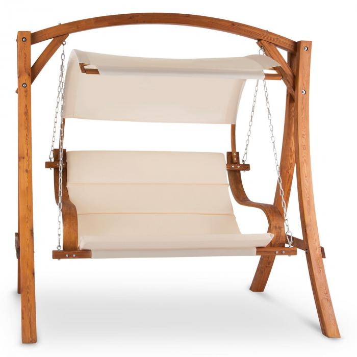 Maui Hollywoodschaukel 110 cm 2-Sitzer Sonnensegel Polyester Lärche