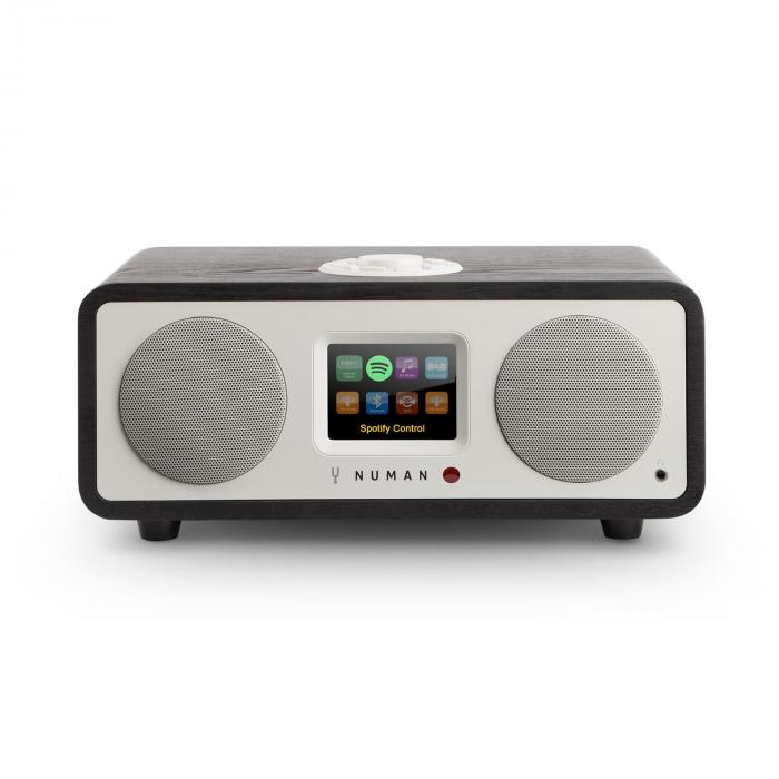 One – 2.1 Design WebRadio 20W Bluetooth Spotify Connect DAB+ Quercia Nero
