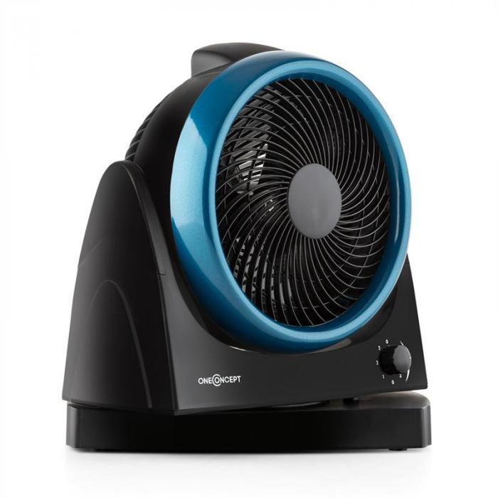 Windmaker Ventilatore da Tavolo Oscillazione 25 cm Ventilatore Nero-Blu