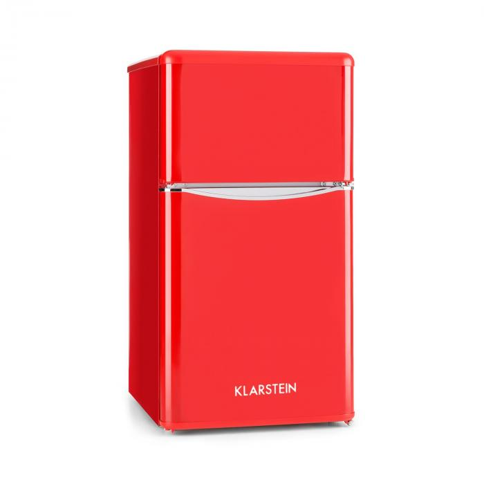 Monroe Red Frigorífico c/ Congelador 61/24 l A+ Aparência Retro Vermelho