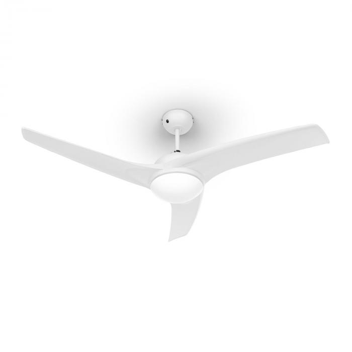 """Figo Ventilatore da Soffitto 52"""" 55W Lampadario 2x43W Telecomando Bianco"""
