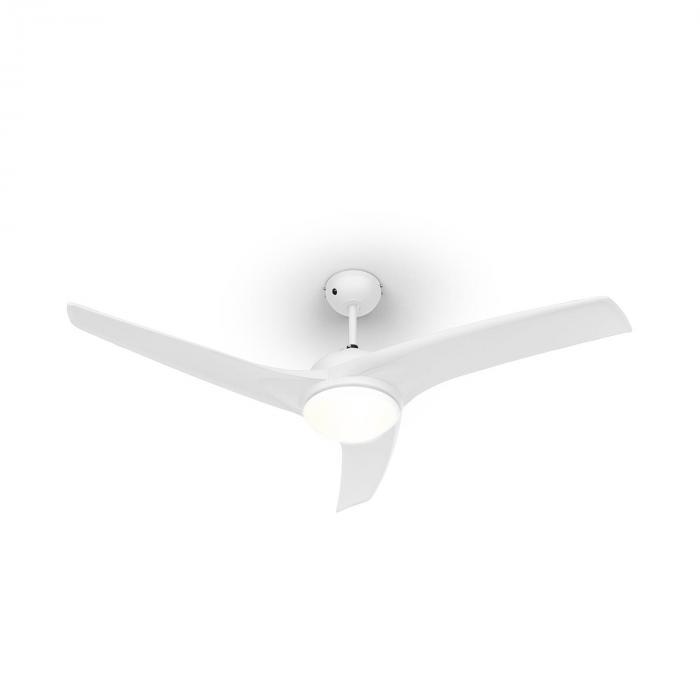 """Figo Wentylator stropowy 52"""" 55W Lampa stropowa 2x42W Pilot biały"""